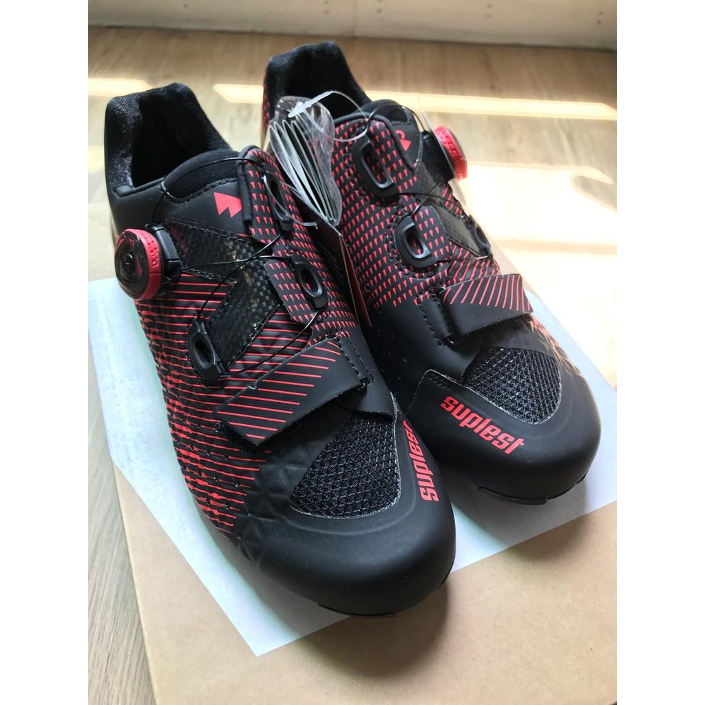 小熊卡鞋 Suplest Edge/3 Performance Road Shoe 二級卡鞋 BOA單旋鈕 全碳底 黑紅