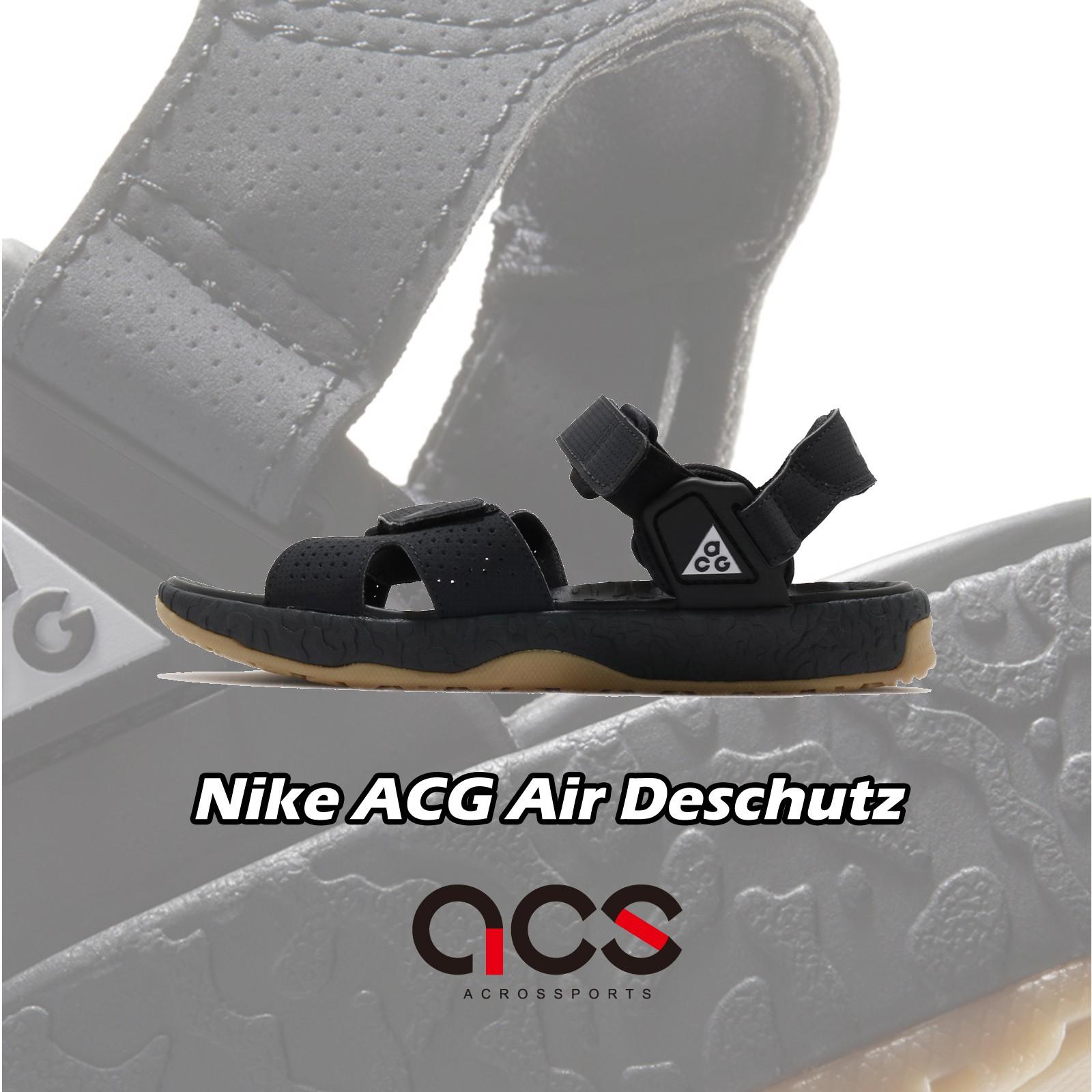 Nike 涼鞋 ACG Deschutz 黑 膠底 戶外風格 魔鬼氈綁帶 男鞋 女鞋 【ACS】 CT3303-001