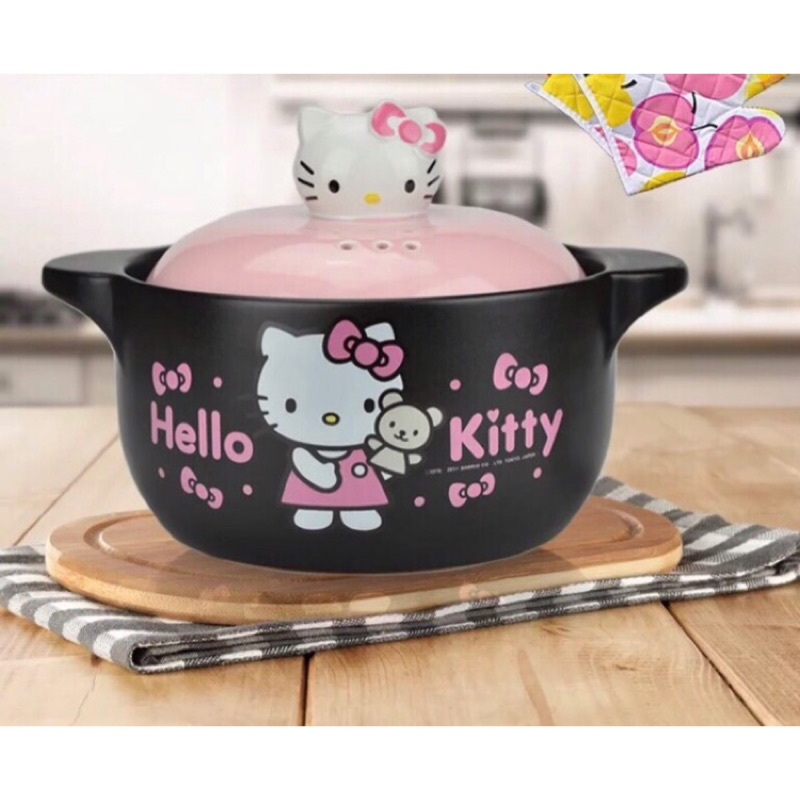 日本原裝 hello kitty萌款砂鍋