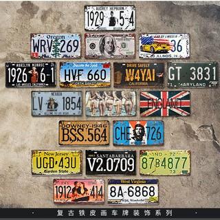 🍀FunGLife🍀[8張發貨]復古鐵牌復古鐵皮畫loft工業風裝飾工業風壁掛復古工業風壁飾車牌 風景