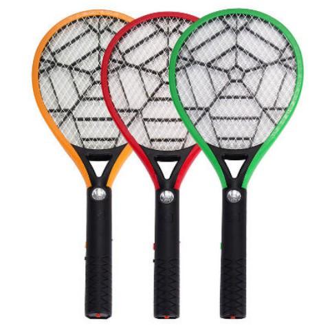 【求其家居】譽諾電蚊拍充電式家用多功能三層網強力電池蒼蠅拍滅蚊拍電蚊子拍