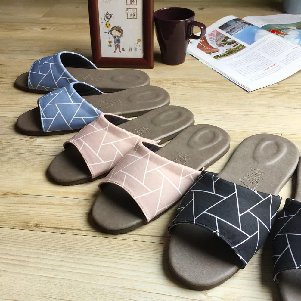 【iSlippers】品味系列-布面皮質室內拖鞋-花絮-黑