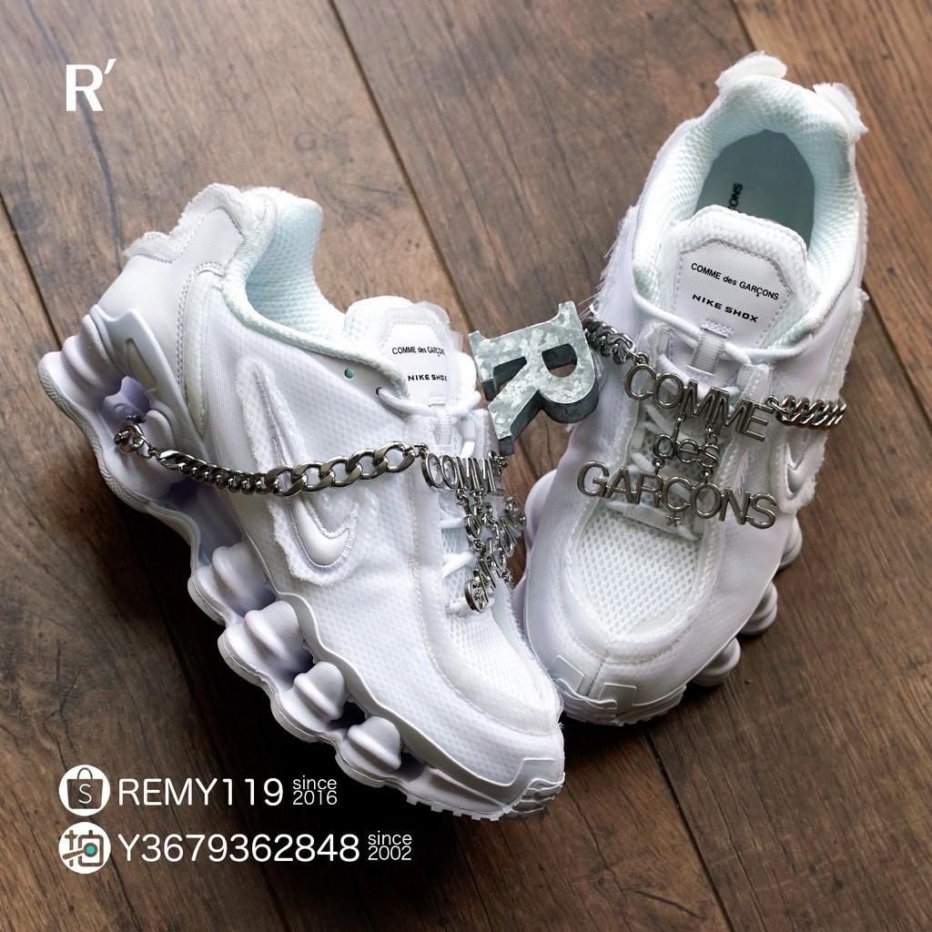 全新 Comme des Garçons川久保玲 Nike Shox TL 白銀金屬彈簧CDG CJ0546-100