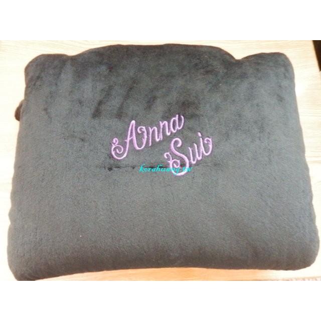 正版 安娜蘇 anna sui 抱枕 腰枕 頸枕 2Way 二用 粒粒填充 28*22CM 花花 旅遊