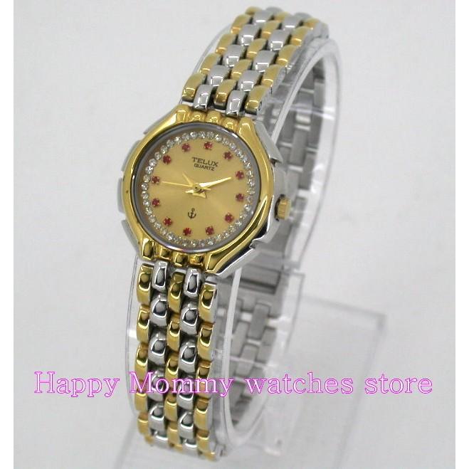 【 幸福媽咪 】網路購物、門市服務 TELUX 鐵力士 公司貨 璀璨晶鑽時尚女腕錶 725L