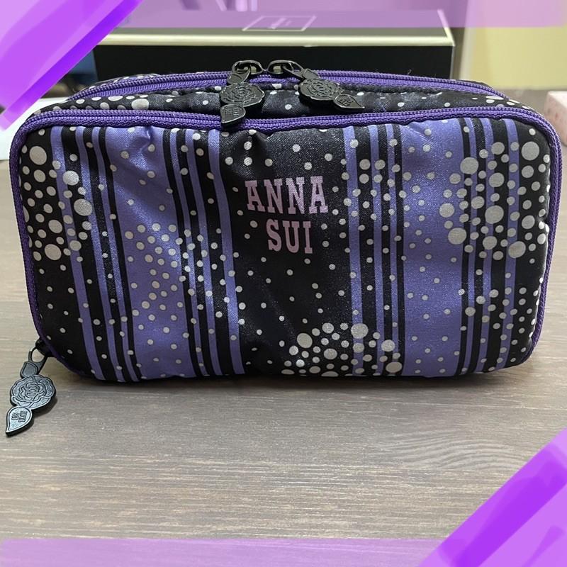 Anna Sui緞面雙層化妝包 專櫃贈禮