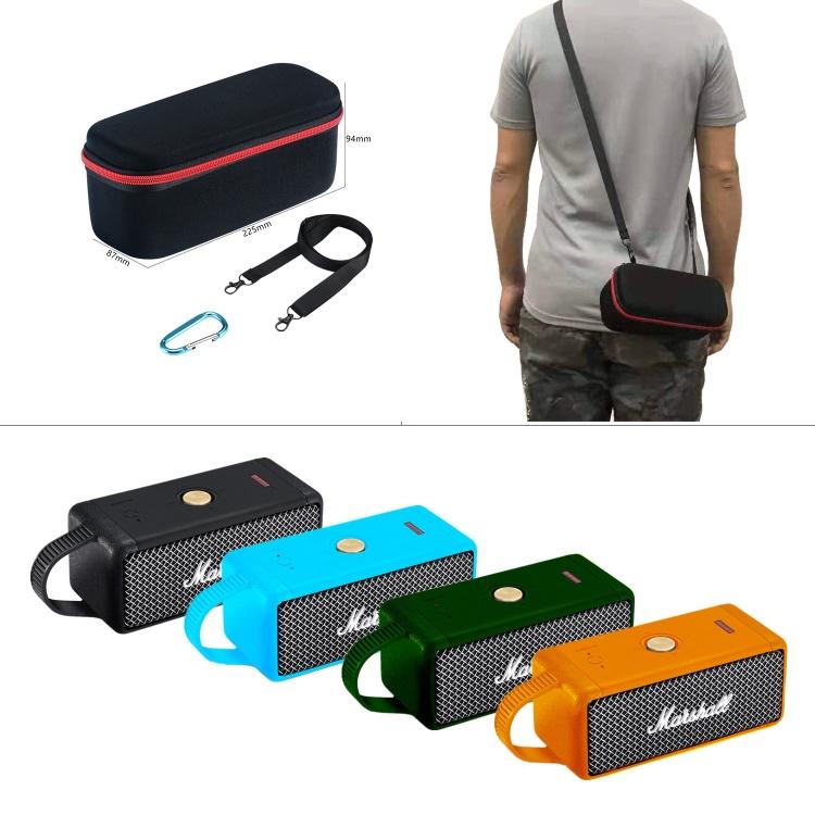 適用 MARSHALL EMBERTON馬歇爾音箱硅膠套手提背收納盒保護套