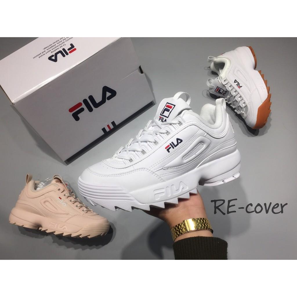 RE_cover // FILA 鋸齒鞋 增高 全白 FSIHTA1071X