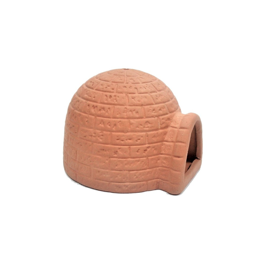 ◆蔚藍水族工坊◆ $40~45/個 短雕用蒙古包 (磚色) 螯蝦 異形 繁殖 產卵 躲藏 造景 裝飾 陶甕