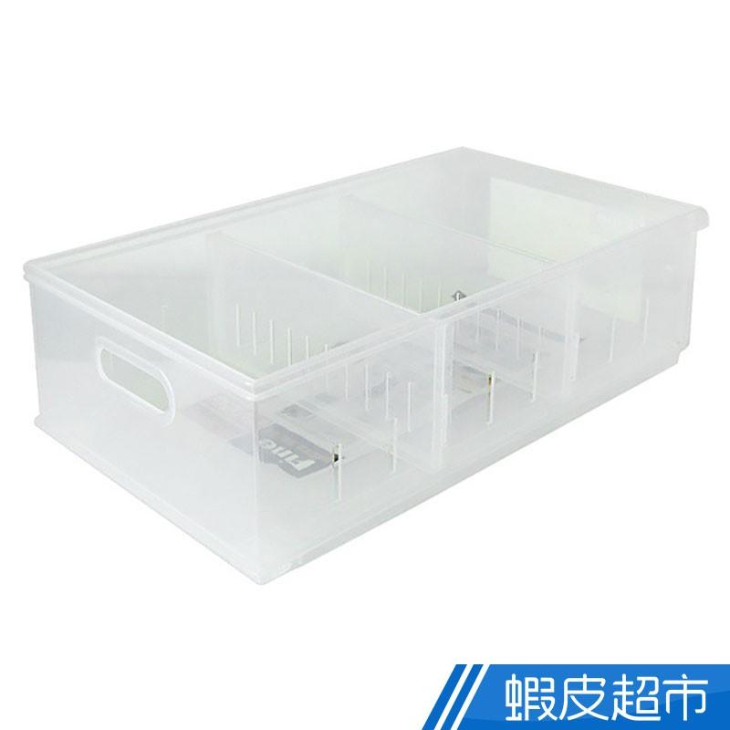Fine隔板整理盒11L附輪 冰箱收納盒 收納籃 水果籃 衣物整理箱 台灣製造 LF-1002 廠商直送 現貨