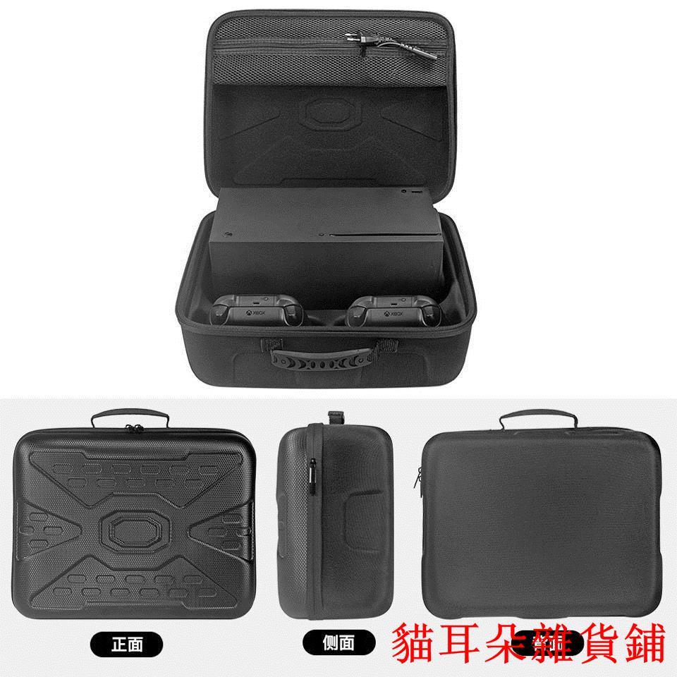 貓耳朵雜貨熱賣適用 微軟Xbox Series X游戲機收納包主機手柄配件保護盒硬手提袋
