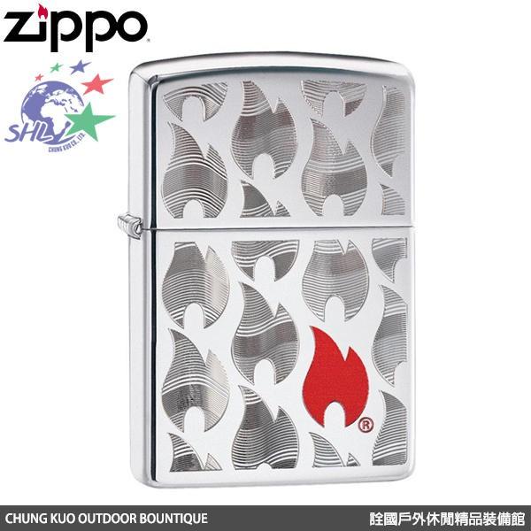 ZIPPO 美國經典打火機 FLAME 火焰圖紋 / ZP608 / 29678 【詮國】