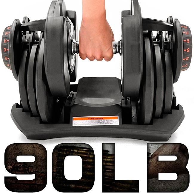 快速調整90磅智慧啞鈴(17種可調式啞鈴)90LB重力設備40KG啞鈴槓鈴.40公斤舉重量訓練機器C194-1090