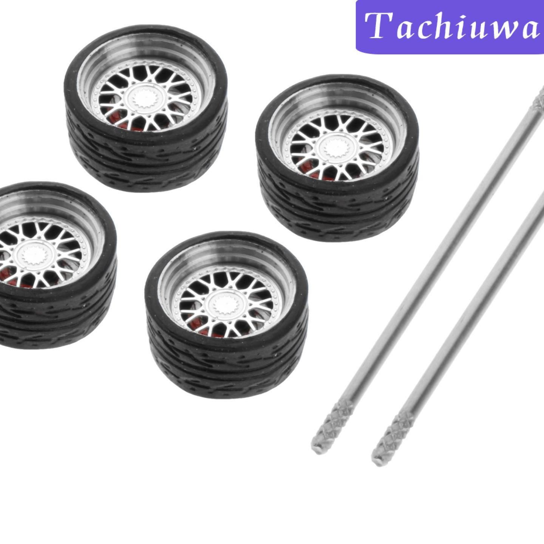 HOTWHEELS [Tachiuwa] 4 件 / 套 1 / 64 公路模型車輪和輪胎 E1 的備件