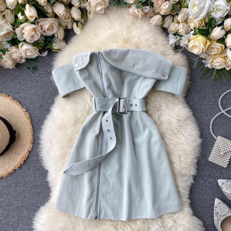 現貨預購一字領質感洋裝