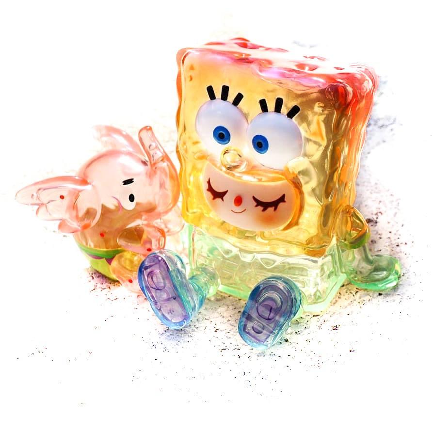 明星花鹿水 海綿寶寶 UNBOX INDUSTRIES 派大星 彩虹透明 Spongebob (1大+1小=1組=未拆)