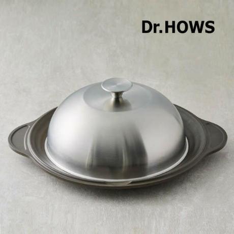韓國Dr.HOWS 不鏽鋼圓頂鍋蓋烤盤 30cm烤盤含蓋 GRIDLE PAN 韓國烤肉 露營必備