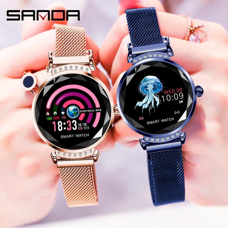 現貨💕智慧手錶 繁體手錶 H2智能手錶 運動手環 女性彩屏 多功能 計步器 心率血壓監測 潮流手錶