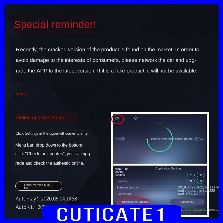 [CUTICATE1] Carlinkit汽車智能鏈接USB汽車玩加密狗適配器適用於iPhone Android