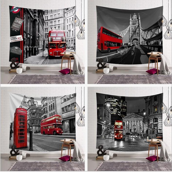 英倫街道背景布改造ins掛布掛毯裝飾掛畫網紅背景牆少女床頭背景牆布