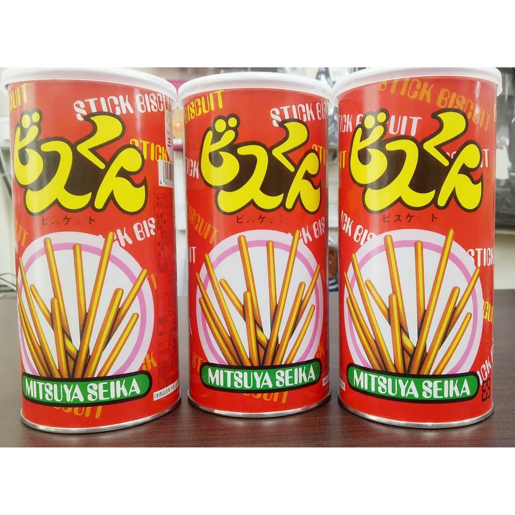 日本 Mitsuya Seika 三矢 罐裝 香酥棒/8袋裝香酥棒