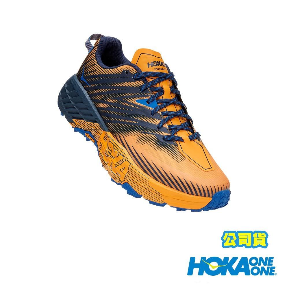 【HOKA ONE ONE】 Speedgoat 4 男鞋 野跑鞋 番紅花黃黑鳶尾