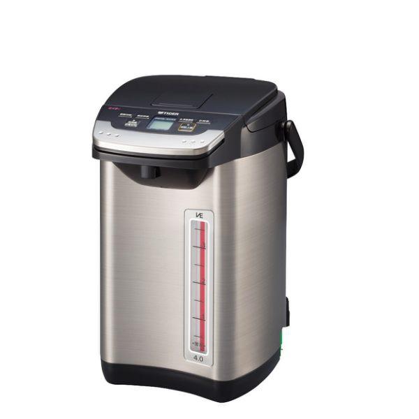 【TIGER 虎牌】日本製_4.0L無蒸氣VE節能省電真空熱水瓶 PIE-A40R