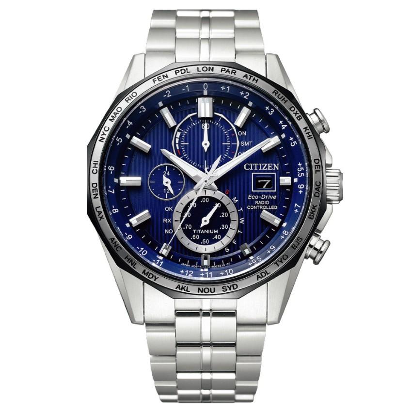 CITIZEN星辰 AT8218-81L 光動能電波對時鈦金屬時尚腕錶