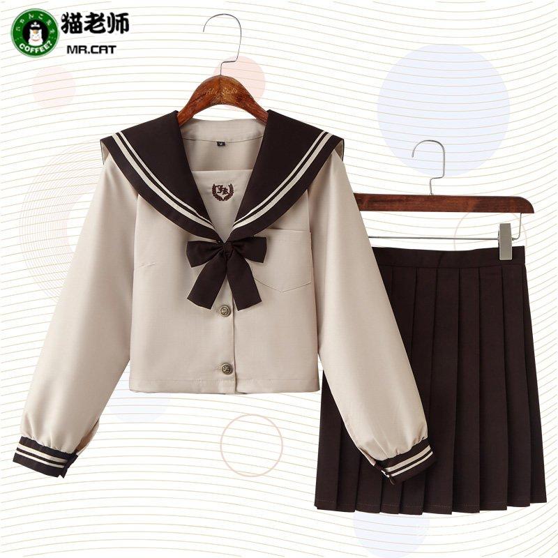 新品熱銷 貓老師日式JK制服cosplay女裝軟妹可愛萌子水手服女子高中生校服