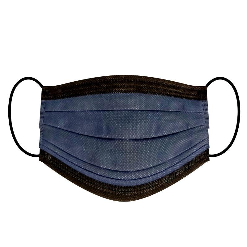 【現貨】荷康 紳藍(炫黑)/盒裝50入 成人醫用口罩