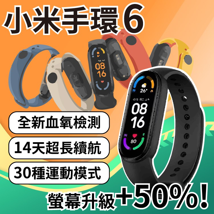 小米手環6 標準版/NFC版 送水凝膜保護貼 繁體中文 運動手環 血氧偵測 超長續航 全螢幕高畫質