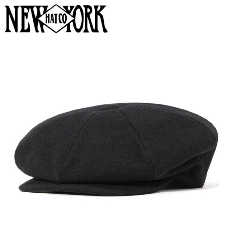 美國 NEW YORK HAT - WOOL NEWSBOY 羊毛報童帽 - 黑色