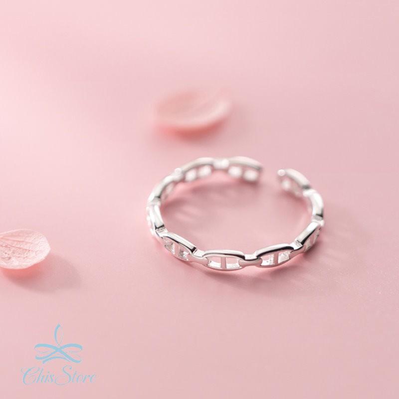 【DNA】925純銀戒指 Chis Store 線條戒指 麻花戒指 指環 抗過敏 韓國 簡約 可調節戒指