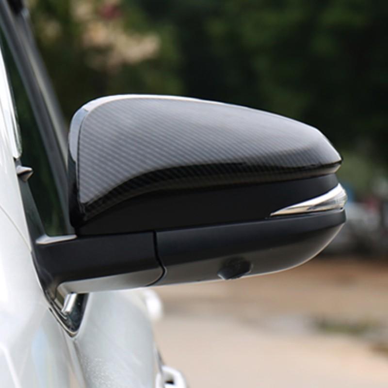 適用於豐田COROLLA CROSS 碳纖紋後視鏡蓋 COROLLA CROSS 仿卡夢外飾板 倒車鏡罩