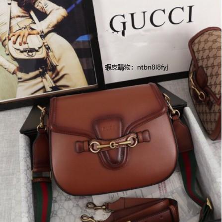 二手99新 正品 Gucci 古馳 走秀款 Lady web 383848 經典復古馬鞍包 單肩包 斜挎包 晚宴包