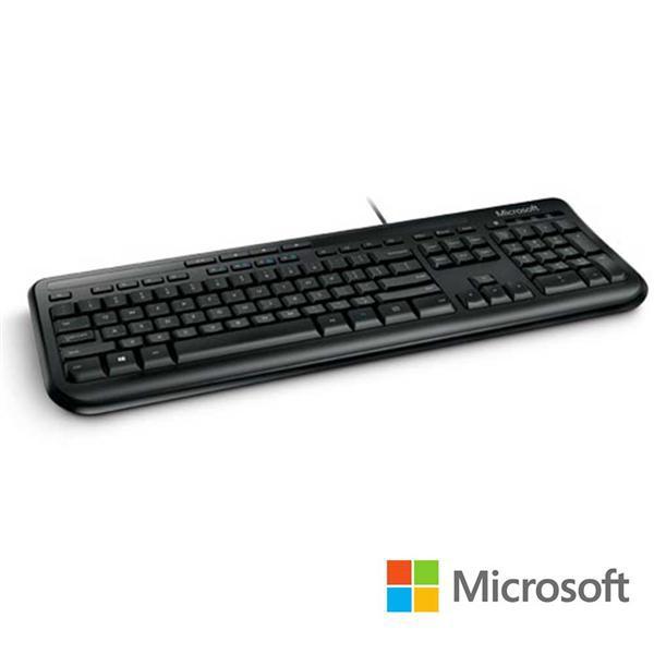 微軟 Microsoft 標準鍵盤 600 - 黑 盒裝 支援Xbox 360 多媒體控制鍵 超薄按鍵 有線鍵盤 防潑水