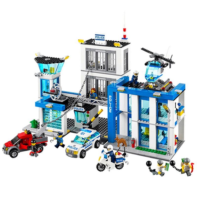 兼容樂高城市系列警察局警系局組兒童男孩子積木拼裝益智玩具警車