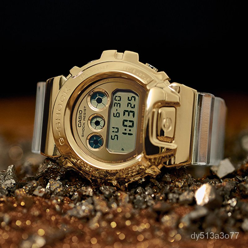 GtqL 2021卡西歐手錶新品速遞冰川金限量透明錶帶GM-110SG-9/GM-6900SG/ 5600SG