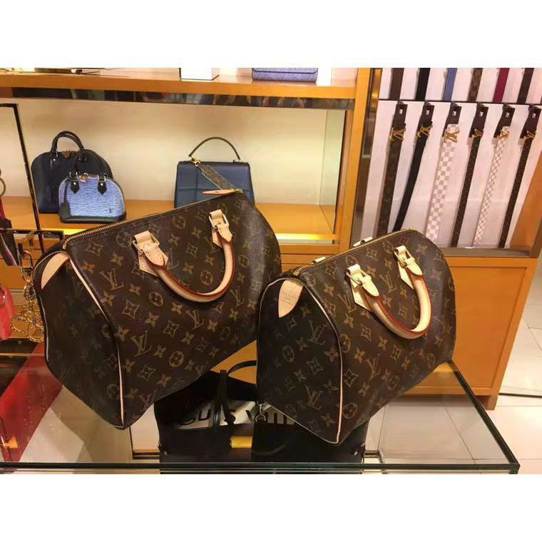 法國代購** Louis Vuitton LV SPEEDY BANDOULIÈRE 25 附背帶 手提包 M411