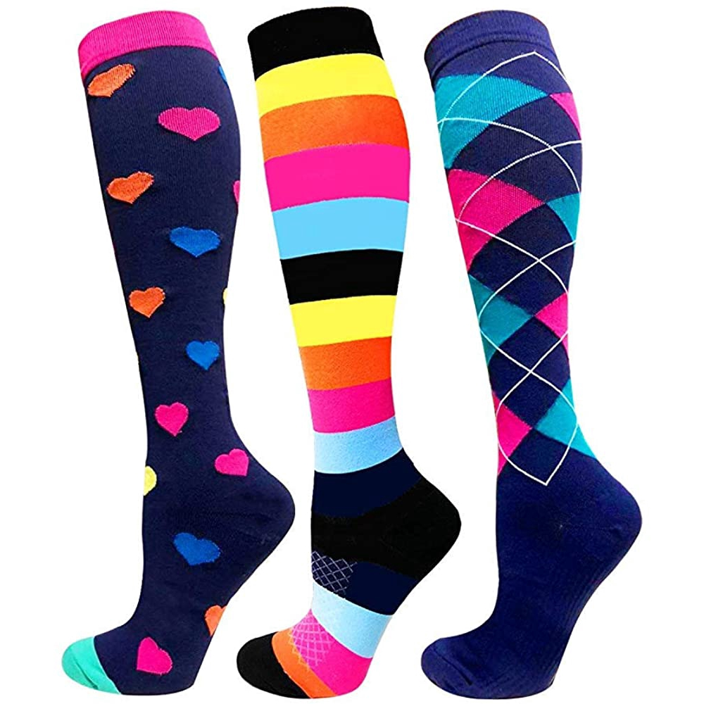 壓縮襪 20-30 毫米, 最適合靜脈曲張, 運動和醫療男士女士護士跑步飛行旅行襪