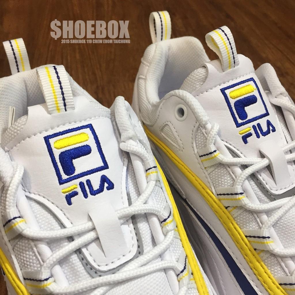 FILA X FOLDER 限量聯名款 韓國 復古 黃藍 FLFL8A1U11