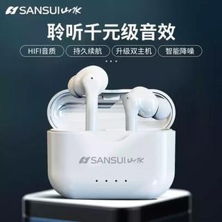 🔥全新現貨🔥SANSUI 山水 JW15 真無線藍芽耳機 可調節音量 運動防水智能降躁 QCY 蘋果安卓小米手機通用 臺中市