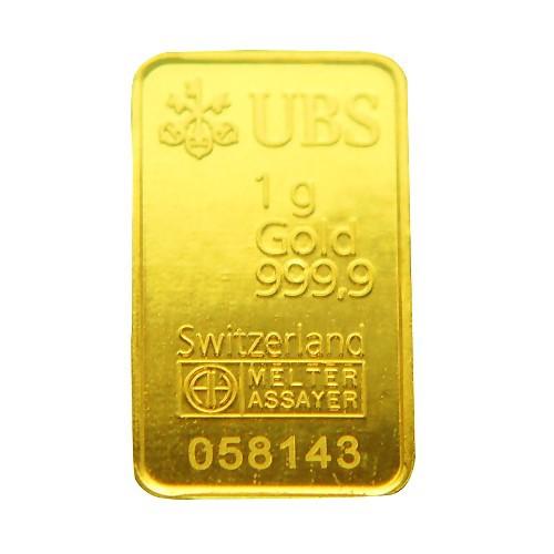 UBS kinebar 黃金條塊 1公克 1g 純金999.9