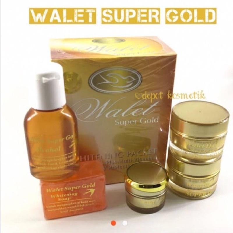 CREAM WALET SUPER GOLD PREMIUN 5in1 ORIGINAL