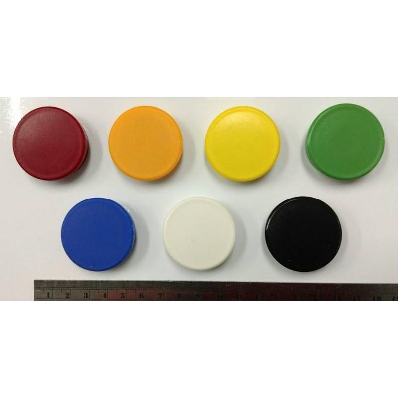 【黑白板怪獸】玻璃白板專用磁鐵 3.8公分 氧化鐵 玻璃可吸8張紙 強力磁鐵 紅黃藍綠黑白6色