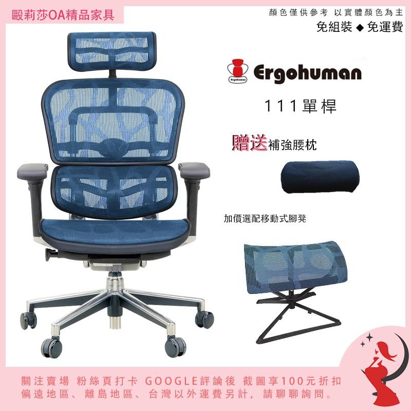 ★免運免組打卡送折扣★Ergohuman 111 單桿版 體工學椅 網椅鋁合金腳雲彩網現貨保固電腦椅