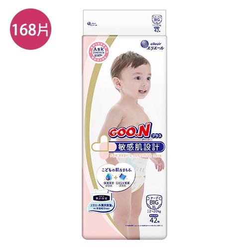 GOO.N大王 日本境內敏感肌黏貼型紙尿褲XL42片X4包(【愛買】
