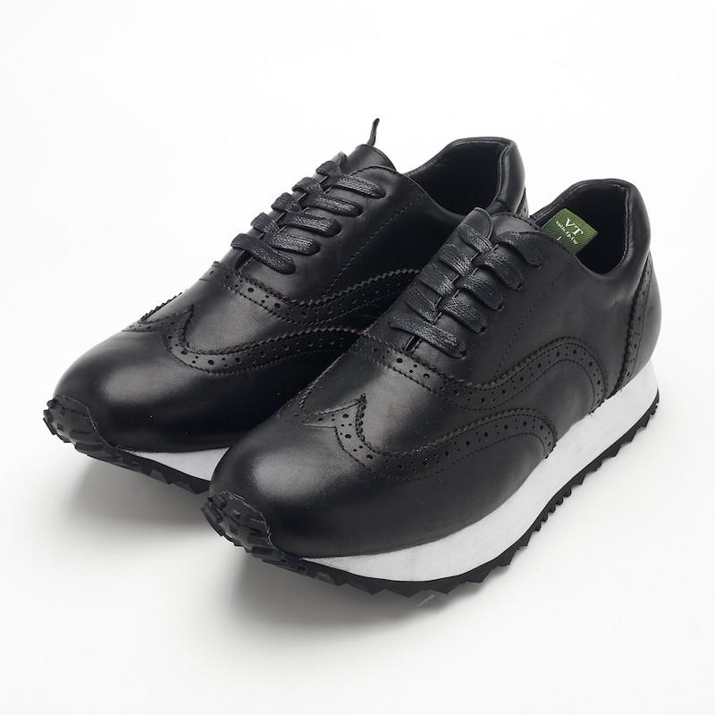 Vatic Footwear Frankie Blk 質感雕花 休閒鞋
