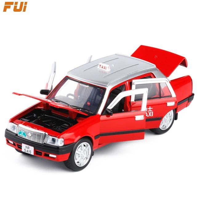 迷你合金迴力出租車車形狀聲光玩具的兒童盒裝