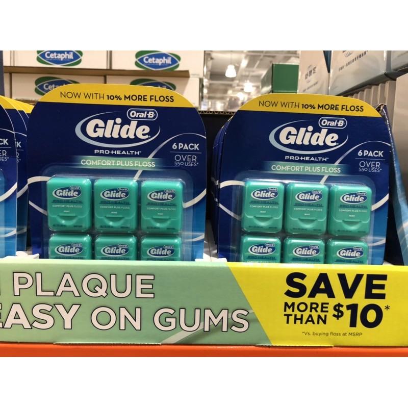 🛍好市多Costco代購 歐樂B GLIDE清潔舒適牙線-薄荷口味 44公尺6入裝